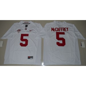 NCAA Stanford Cardinal 5 Christian McCaffrey White Football 2016 Limited Men Jersey