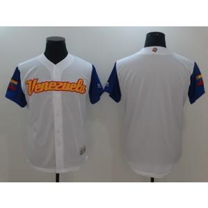 Men Venezuela Baseball Majestic White 2017 World Baseball Classic Authentic Team Jersey