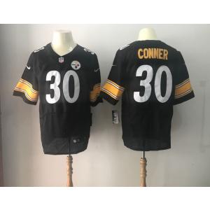 85ddc31cefa Nike Steelers 30 James Conner 2017 NFL Draft Black Elite Jersey