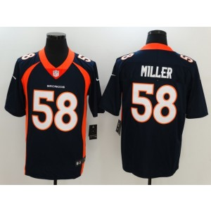 Nike Denver Broncos 58 Von Miller Navy Blue Vapor Untouchable Limited Men Jersey