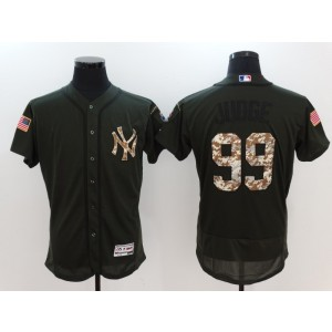 Yankees 99 Aaron Judge Olive Green Flexbase Men Jersey