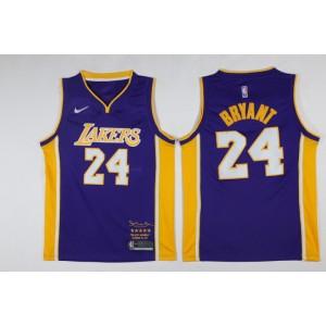 NBA Lakers 24 Kobe Bryant Purple Black Mamba Swingman Nike Men Jersey