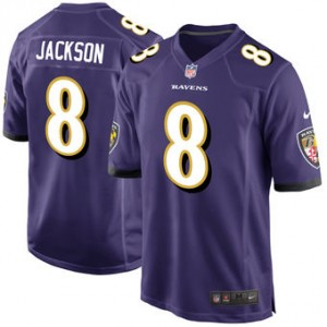 NFL Baltimore Ravens 8 Lamar Jackson Nike Purple 2018 NFL Draft Elite Men Jersey