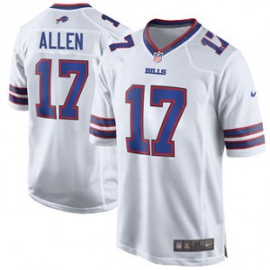 NFL Buffalo Bills 17 Josh Allen Nike White 2018 NFL Draft Elite Men Jersey