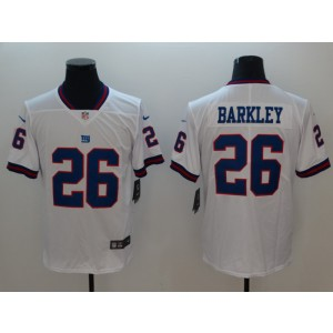 Nike Giants 26 Saquon Barkley White Color Rush Limited Men Jersey