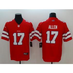 NFL Buffalo Bills 17 Josh Allen Nike Red Color Rush Limited Men Jersey