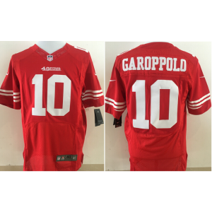 be67b9f78 Nike NFL 49ers 10 Jimmy Garoppolo Red Elite Men Jersey