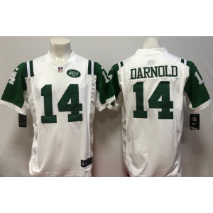 NFL Jets 14 Sam Darnold 2018 NFL Draft White Game Men Jersey