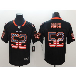 Nike Bears 52 Khalil Mack Black USA Flag Fashion Limited Men Jersey