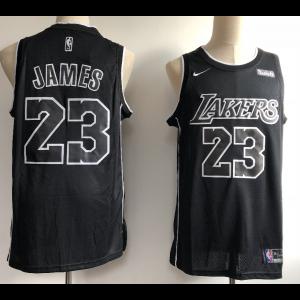 2ba8bd03ce5 NBA Lakers 23 Lebron James Black Nike Men Jersey