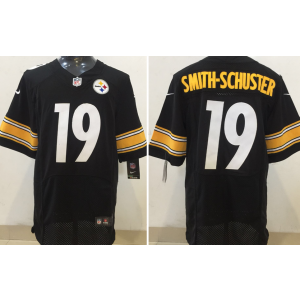 Nike Pittsburgh Steelers 19 JuJu Smith-Schuster 2017 NFL Draft Elite Black Men Jersey