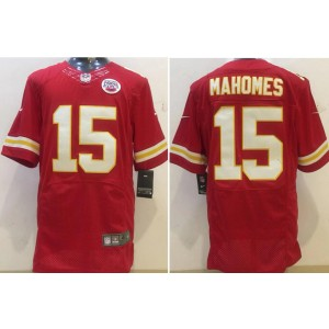 Nike Kansas City Chiefs 15 Patrick Mahomes Red Elite Men Jersey