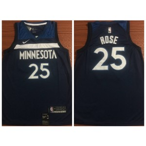 54a201369 NBA Timberwolves 25 Derrick Rose Swingman Navy Nike Swingman Men Jersey