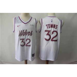 f19064d27 NBA Timberwolves 32 Karl-Anthony Towns White Earned Edition Nike Men Jersey