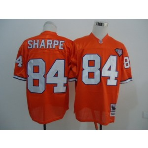 NFL Broncos 84 Shannon Sharpe Orange 75TH Throwback  Men Jersey