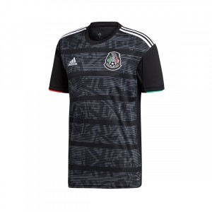 Mexico 2019 Gold Cup Black Adidas Soccer Men Jersey
