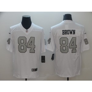 d4ad0337a Nike Raiders 84 Antonio Brown White Color Rush Limited Men Jersey