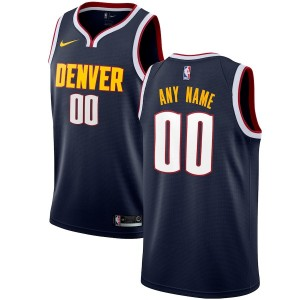 ede37ae20ec NBA Nuggets Navy Customized Nike Men Jersey