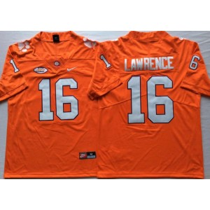 NCAA Clemson Tigers 16 Trevor Lawrence Orange College Football Legend Limited Men Jersey