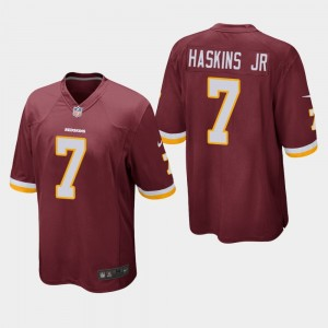 Nike Redskins 7 Dwayne Haskins Jr Burgundy Elite Men Jersey