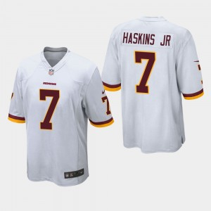 Nike Redskins 7 Dwayne Haskins Jr White Elite Men Jersey