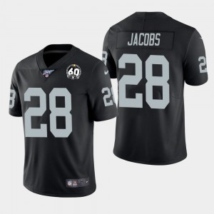 Oakland Raiders 28 Josh Jacobs Black 60th Anniversary Vapor Untouchable Limited Men Jersey