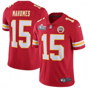 Nike Chiefs 15 Patrick Mahomes Red Super Bowl LIV Vapor Untouchable Limited Men Jersey