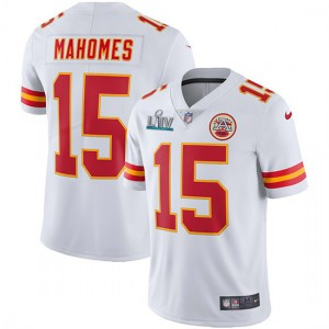 Nike Chiefs 15 Patrick Mahomes White Super Bowl LIV Vapor Untouchable Limited Men Jersey