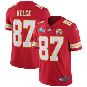 Nike Chiefs 87 Travis Kelce Red Super Bowl LIV Vapor Untouchable Limited Men Jersey