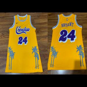 LA Lakers Concept Crenshaw 24 Kobe Bryant Yellow Jersey