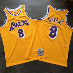 NBA Lakers 8 Kobe Bryant Swingman Yellow Men Jersey
