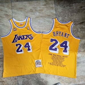 NBA Los Angeles Lakers 24 Kobe Commemorate Men Jersey
