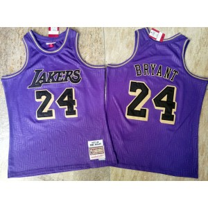 NBA Lakers 24 kobe 2020 Purple Throwback Men Jersey