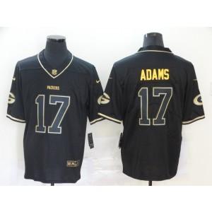 Nike Packers 17 Davante Adams Black Gold Vapor Limited Men Jersey