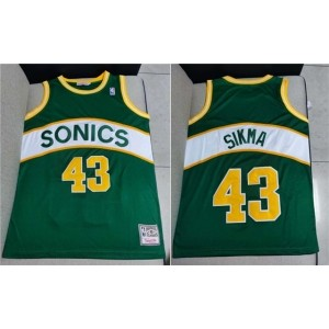 NBA SuperSonics 43 Jack Sikma Green Men Jersey
