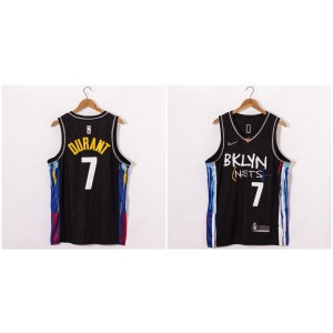 NBA Nets 7 Kevin Durant Black 2020-21 City Edition Nike Men Jersey