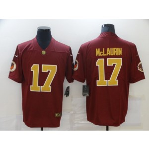 Nike Washington Football Team 17 Terry McLaurin Red Gold Vapor Untouchable Limited Men Jersey