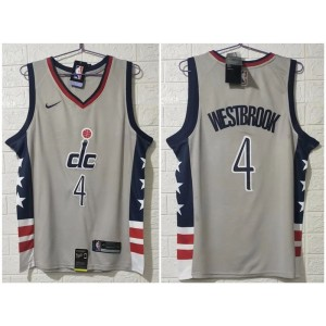 NBA Wizards 4 Westbrook 2020 New Nike Men Jersey