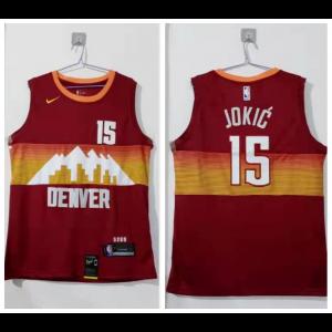 NBA Nuggets 15 Nikola Jokic Nike Men Jersey