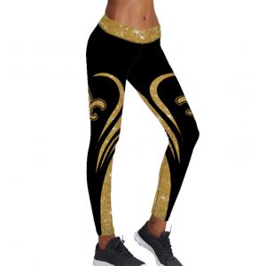 NFL New Orleans Saints Gold Leggings