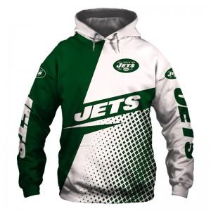 New York Jets Rugby Team Hoodie Print Sweatshirt Pullover Football Hooded Coat