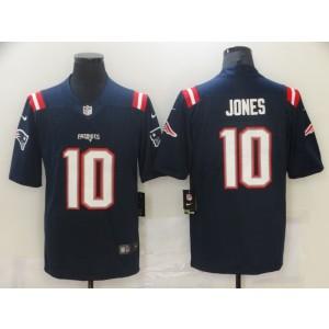 Nike Patriots 10 Mac Jones Navy 2021 Draft Vapor Limited Men Jersey