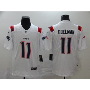 Nike Patriots 11 Julian Edelman White 2020 New Vapor Untouchable Limited Men Jersey