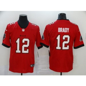 Nike Buccaneers 12 Tom Brady Red 2020 New Vapor Untouchable Limited Men Jersey