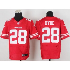 be69cf60771 San Francisco 49ers No.28 Carlos Hyde Red Elite Men s Football Jersey