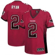 Nike Atlanta Falcons 2 Matt Ryan Red Team Color Embroidered Adult's Football Elite Drift Fashion Jersey