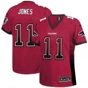 Nike Atlanta Falcons 11 Julio Jones Red Team Color Embroidered Adult's Football Elite Drift Fashion Jersey