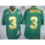 save off b21af e66ad NCAA Notre Dame Fighting Irish 3 Joe Montana White Men Jersey