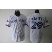 outlet store adb23 a9946 MLB Blue Jays 29 Joe Carter White Flexbase Men Jersey
