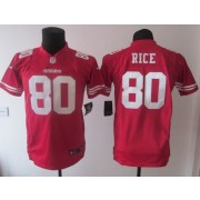 buy online bf8ce b8653 Nike 49ers 80 Jerry Rice White Throwback Toddler Jersey